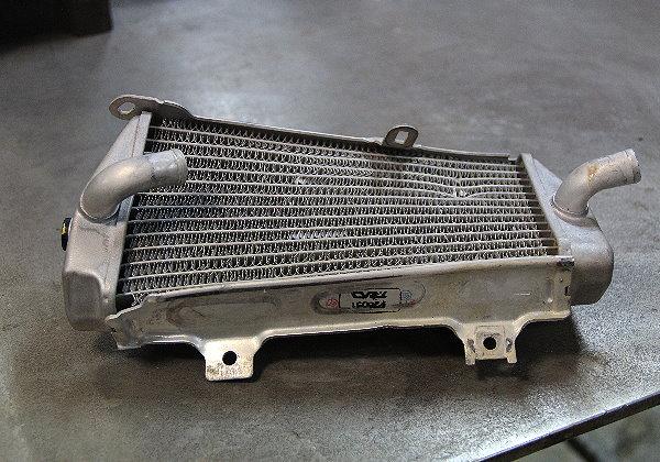 Reparation-radiateur-moto-cross-avant